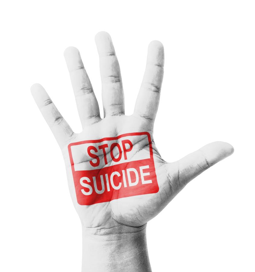Open Hand Raised, Stop Suicide